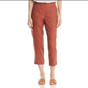 Eileen Fisher Organic Linen Crop Ruset Pant Orange